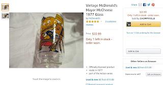 McDonald's Mayor McCheese Glass 1977