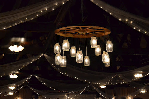 Country Sugar Events Mason Jar Chandeliers