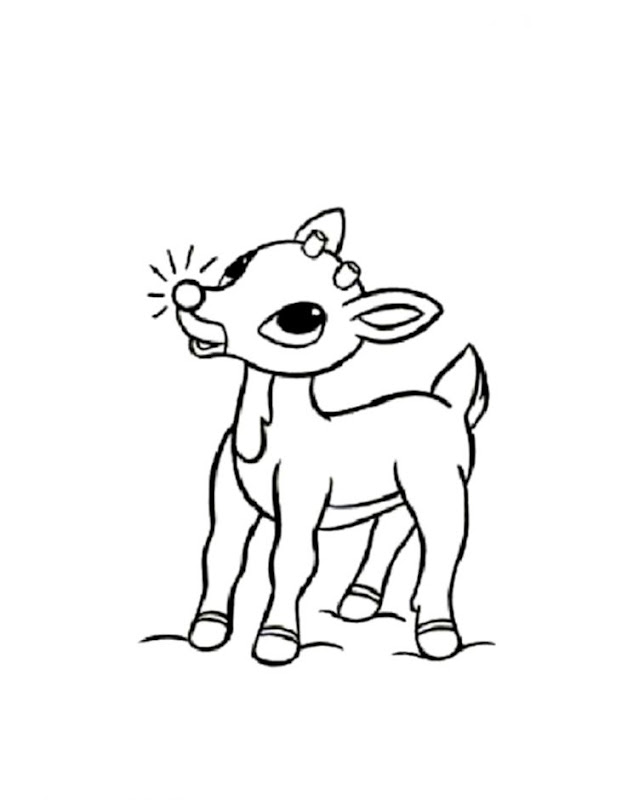 Rudolph Coloring Page | Merger Wallpapers