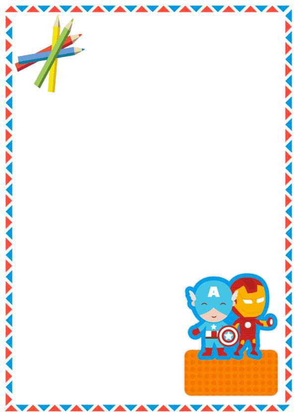 caratulas para cuadernos para niños y niñas de primaria de capitán américa