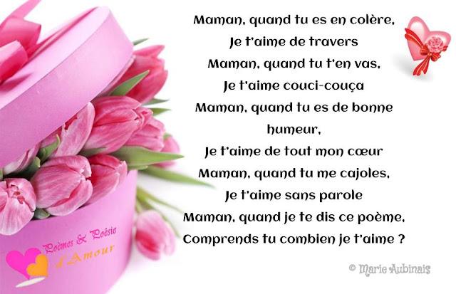 Poème pour la fête des mères 2018