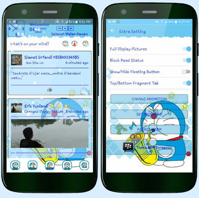 BBM Mod Tema Doraemon Versi 3.2.2.8 Apk Terbaru