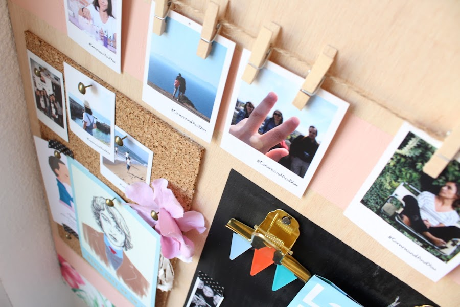 tiras adhesivas para colgar cuadros y tablón de fotos diy