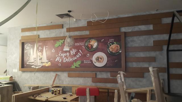 dinding dekoratif cafe