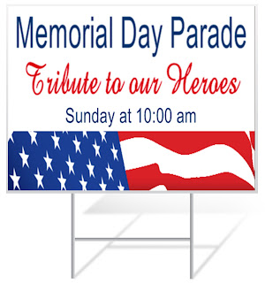 Memorial Day Parade Lawn Sign | Lawnsigns.com