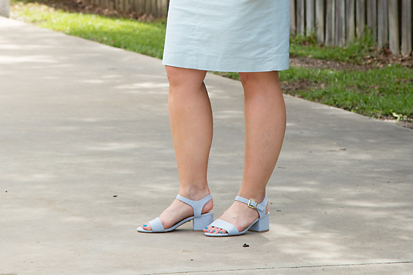 powder blue sandals