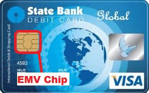 new sbi emv chip based atm debit card