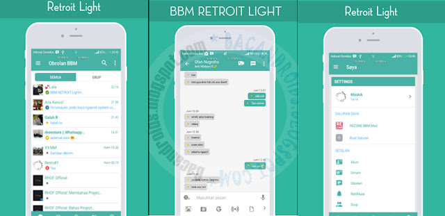 BBM Mod retroit Light v3.3.1.24 Apk terbaru