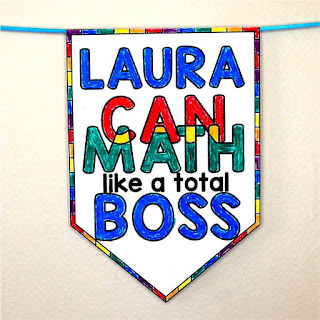 Math Pennants are a fun way to show off student work
