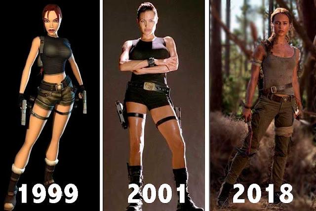 Lara Croft Evolução