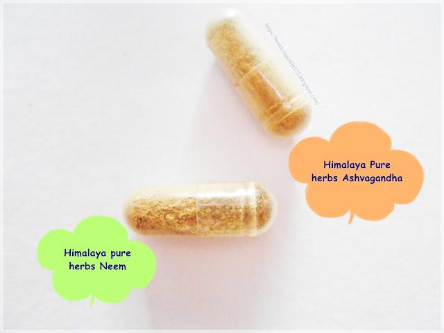 Himalaya pure herbs Neem and Himalaya Pure herbs Ashvagandha