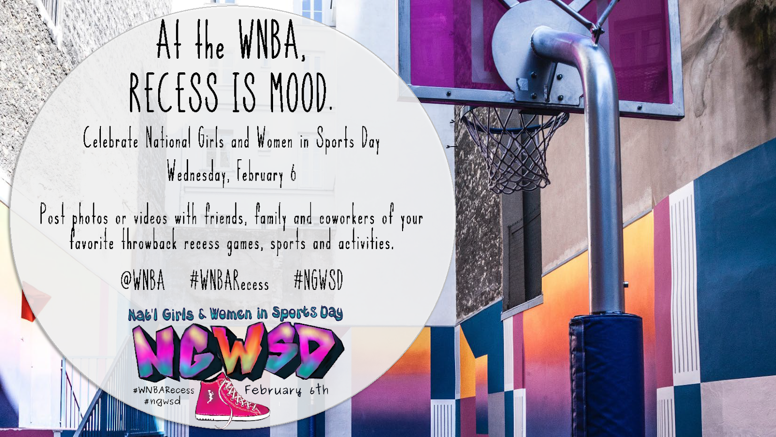 Celebrate National Girls And Women In Sports Day With Wnbarecess On February 6