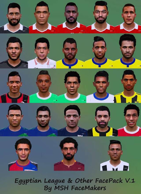 PES 2016 Egyptian League And Other Facepack