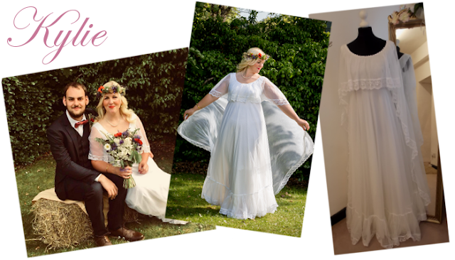 boho wedding dress from vintage lane bridal boutique  at Bolton Manchester