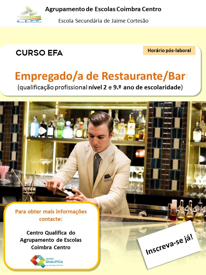 curso efa de restaurante / bar em Coimbra
