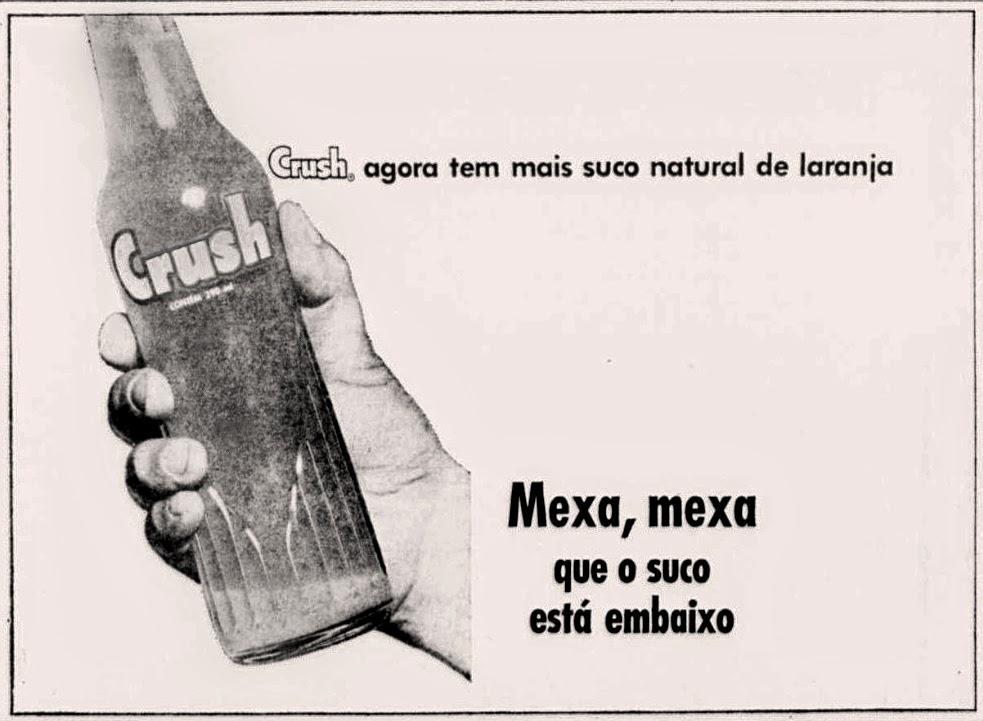 Propaganda antiga do Refrigerante Crush na metade dos anos 70