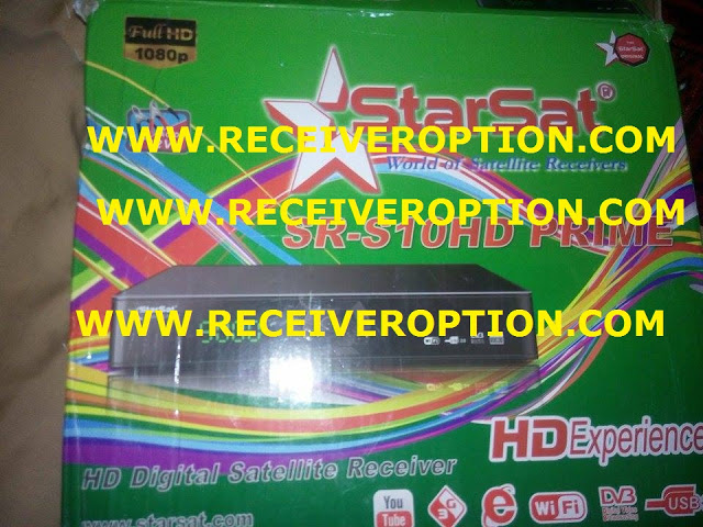 STARSAT SR-S10HD PRIME RECEIVER POWERVU KEY SOFTWARE NEW UPDATE