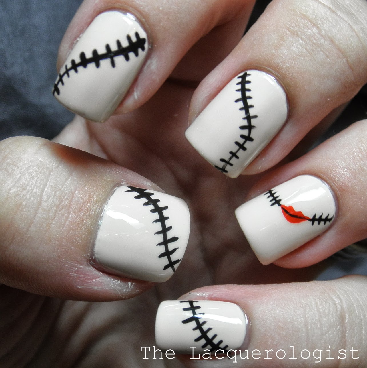 halloween nail art the nightmare before christmas sally inspired nails