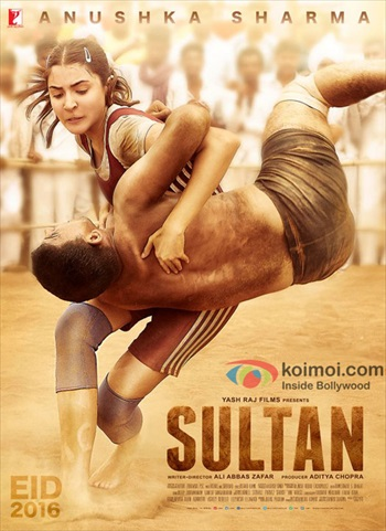 Poster of Sultan 2016 DVDRip 720p Hindi 1.5GB MSubs Watch Online Free Download Worldfree4u