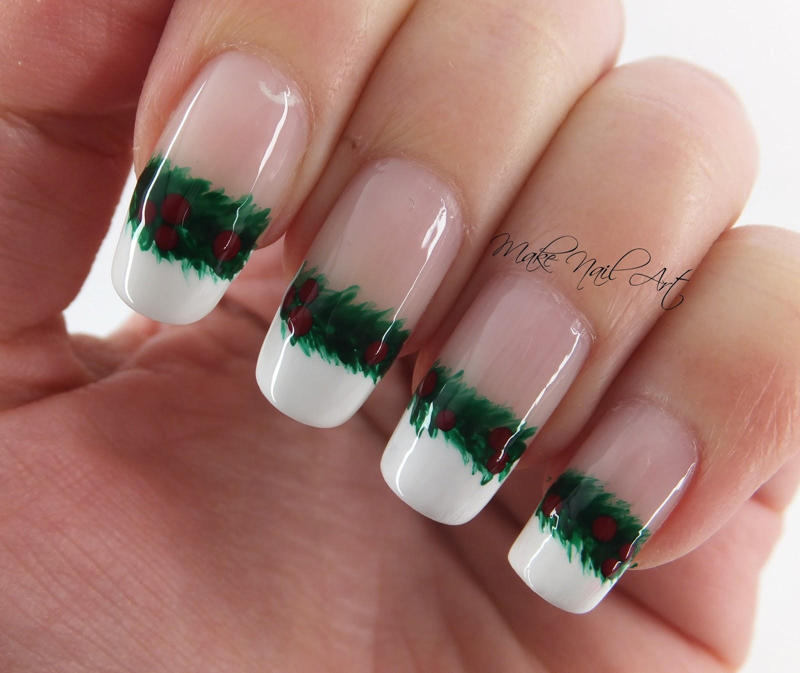 Make Nail Art Christmas Garland Nail Art Design Tutorial
