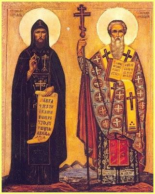 Representación Santos Cirilo y Metodio