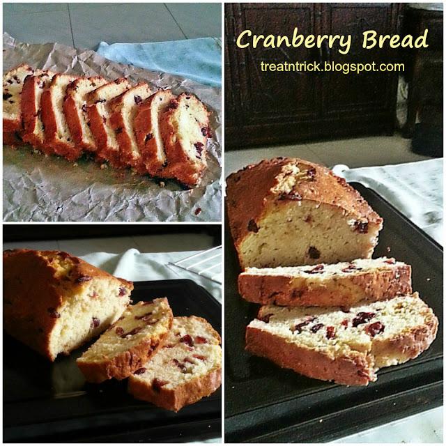 Cranberry Bread Recipe @ treatntrick.blogspot.com