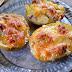 Patatas rellenas de jamón ibérico y roquefort (Receta fácil)