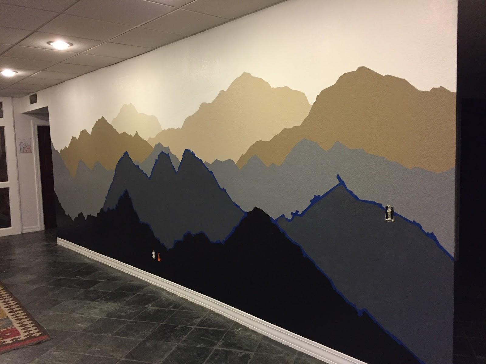 Mountain Wall Mural the alaskan muse: diy mountain mural