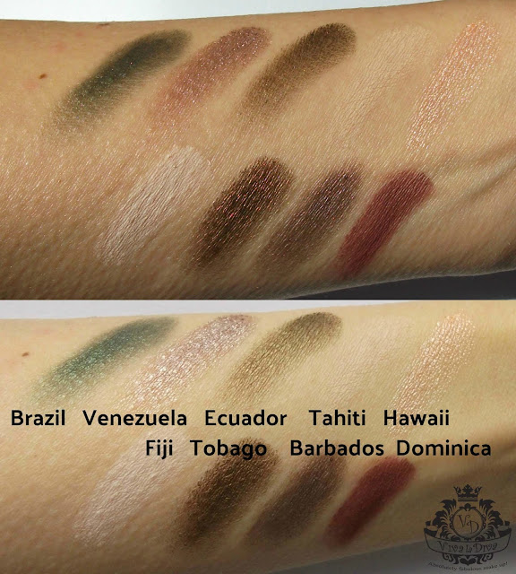 Viva La Diva Move Me Jungle eyeshadow kit, Tropical palette with swatches by Valentina Chirico