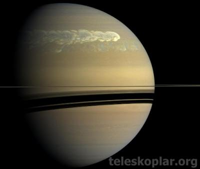 Satürn de oluşan fırtınalar