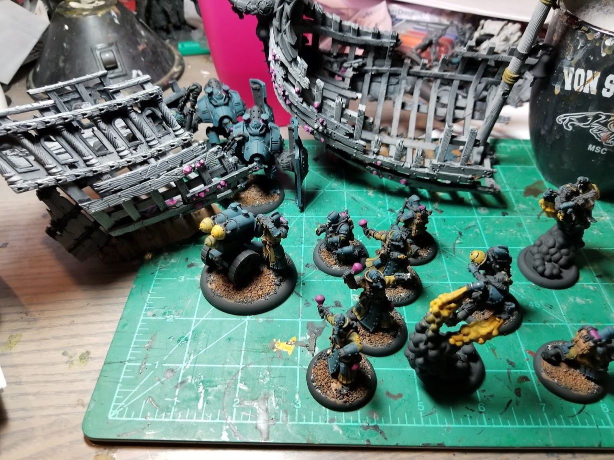 Painted: Gloomtide Wreck and Crucible Guard | pokeminiatures