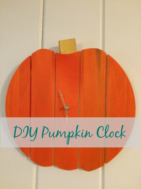 Make your own Pumpkin clock with a wood circle and clock kit