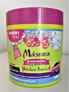 mascara de hidratação para cachos e transição capilar salon line
