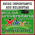 AVISO IMPORTANTE: Inscrições abertas Bolsa Universitária Municipal