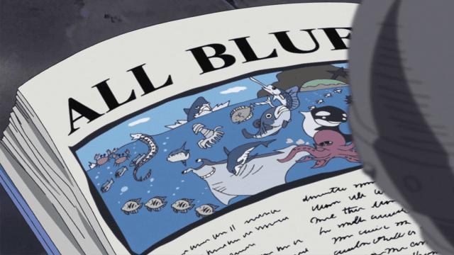 Sanji menjadi bajak laut untuk menemukan All Blue, yaitu lautan dimana 4 lautan bertemu