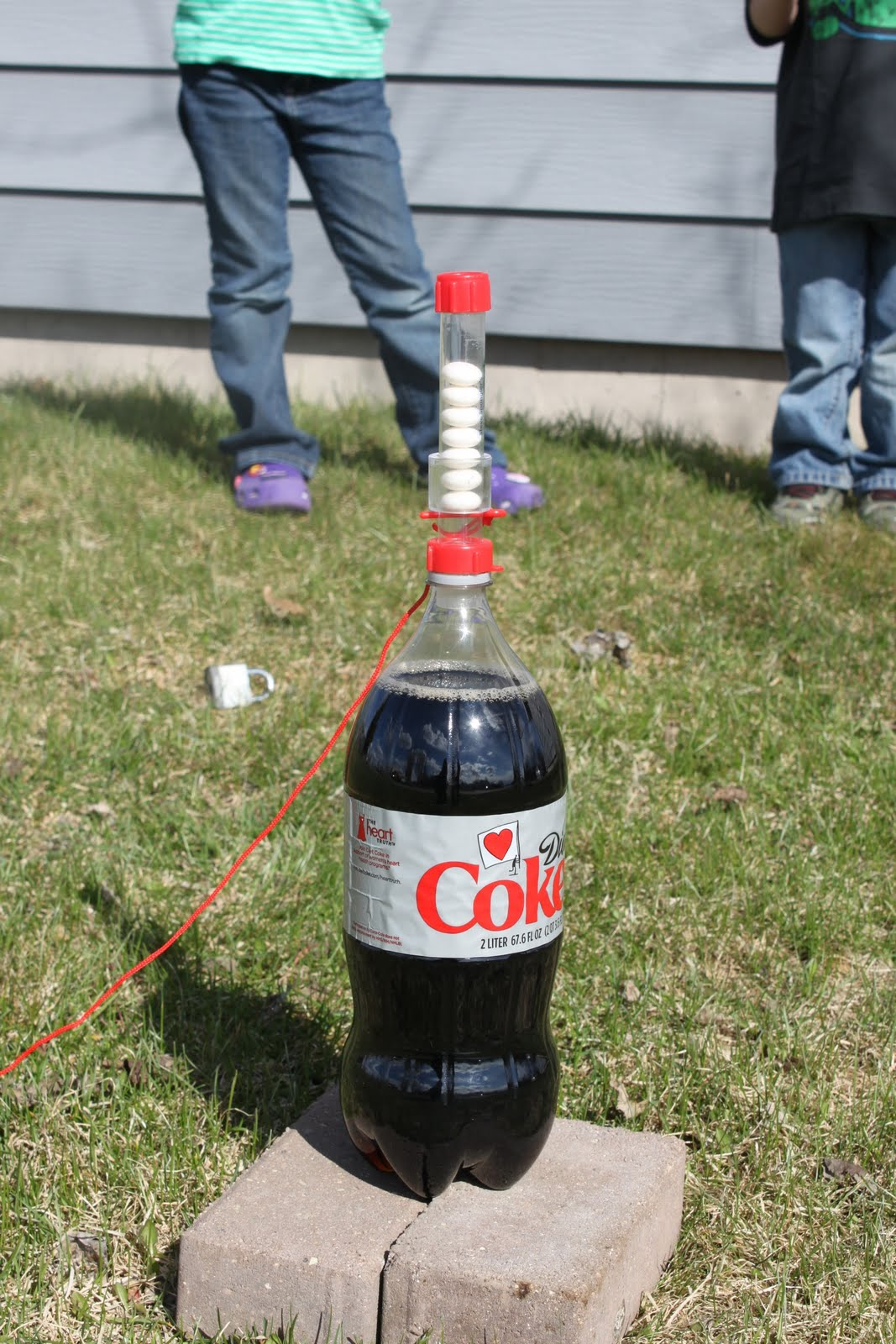 Erupting Chemistry Science Activities for Kids |Coke And Mentos