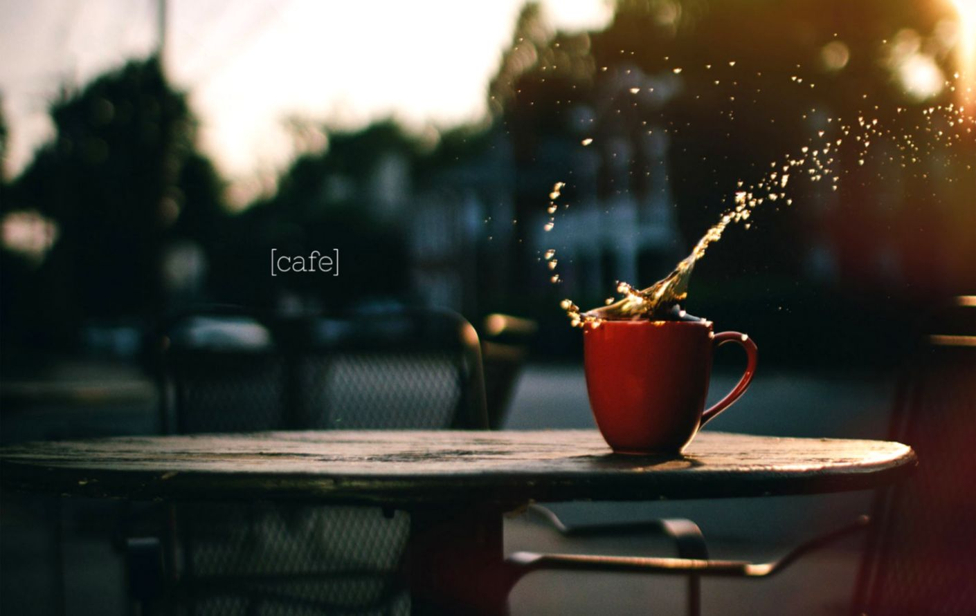 Cup Of Coffee Splash City Hd Wallpaper Dom Wallpapers