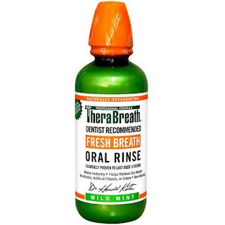 سائل المضمضة لرائحة فم رائعه بنكهة النعناع . TheraBreath, Fresh Breath, Oral Rinse, Mild Mint, 16 fl oz (473 ml)
