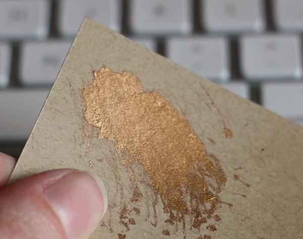 Liquid Gold Leaf On Paper
