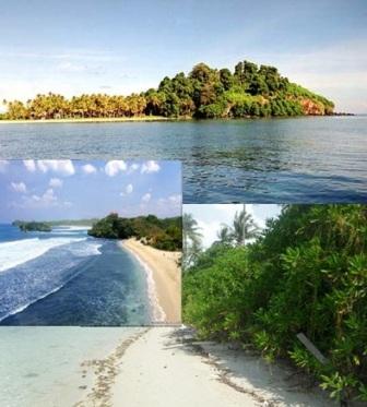 Gambar Panorama keindahan alam Pantai Pulau Terkulai dan Pulau Soreh Kepulauan Riau Indonesia