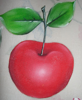 pintura em tecido fruta