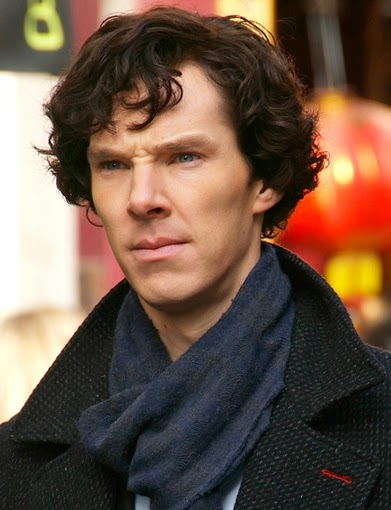 Benedict Cumberbatch during filming of Sherlock: image from Wikipedia Commons - Fat Les from London, UK derivative work: RanZag (talk)
