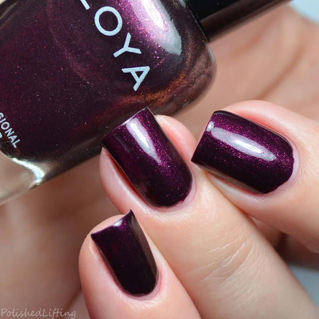 purple shimmer metallic nail polish