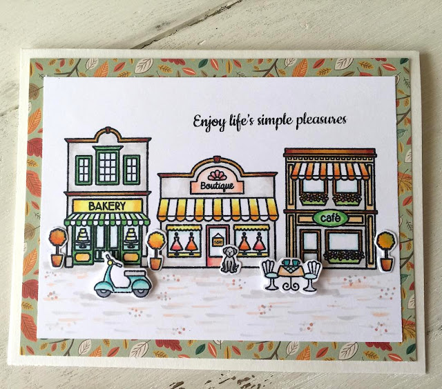 Sunny Studio Stamps: City Streets Scene Card by Julene VanKleeck