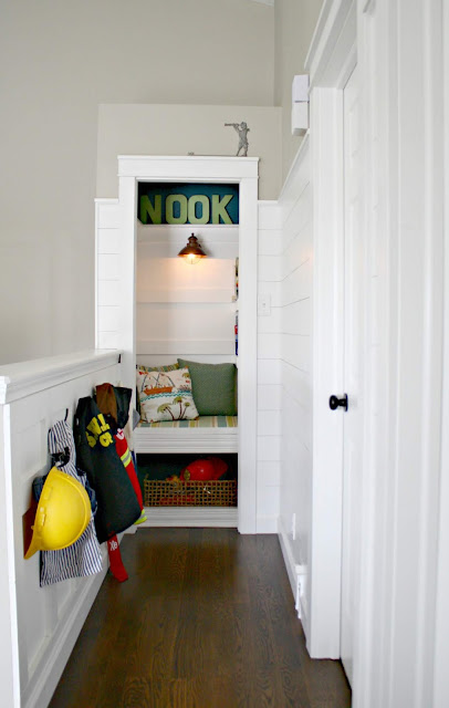 book nook in small closet
