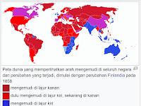Mengapa ada negara yang pakai lajur kanan dan adapula yang lajur kiri?