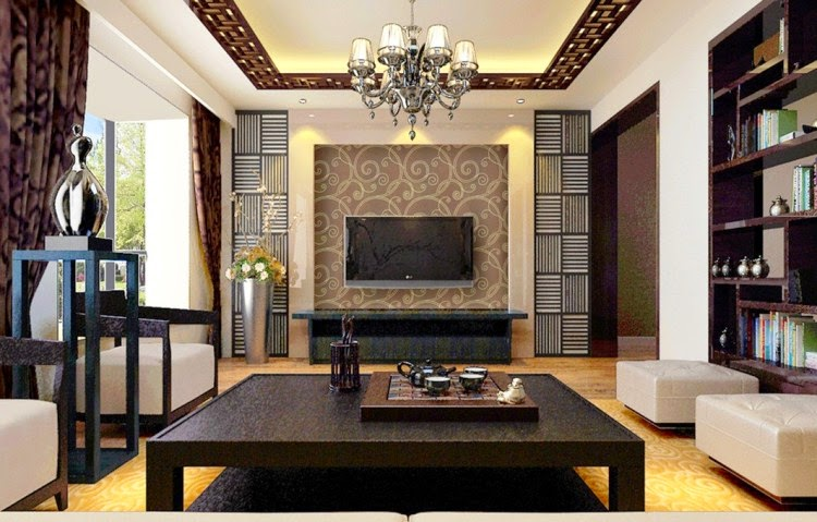 dark brown color for walls in living room | Wall Painting Colors for Living Room