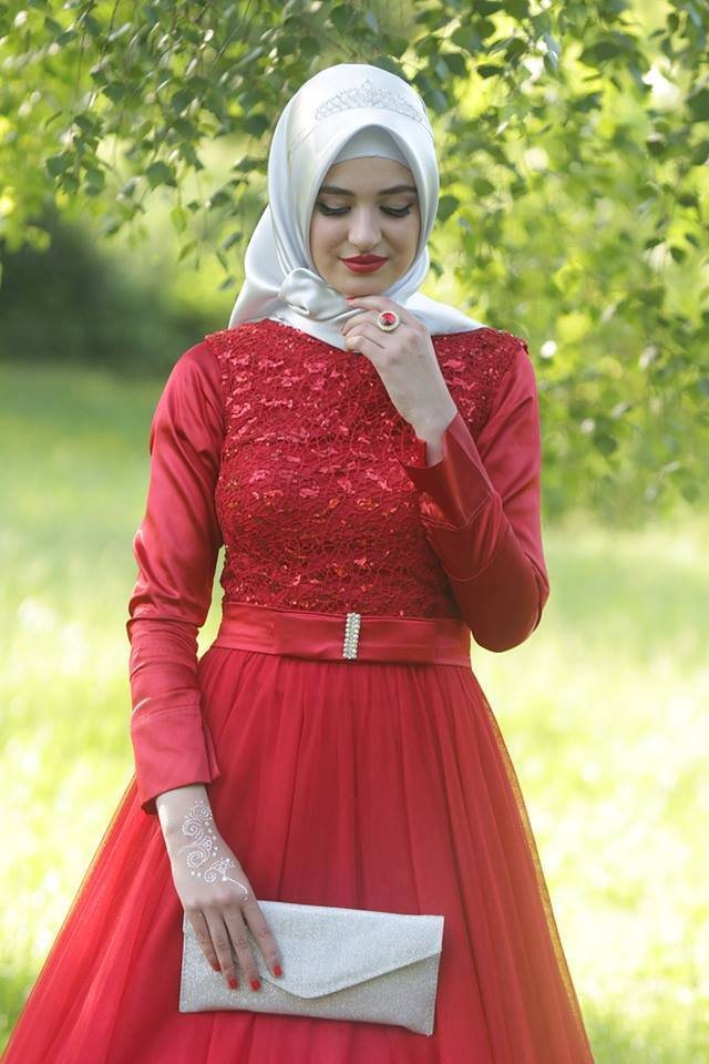 Robe Hijab Chic Rouge Style 2017 Hijab Chic Turque
