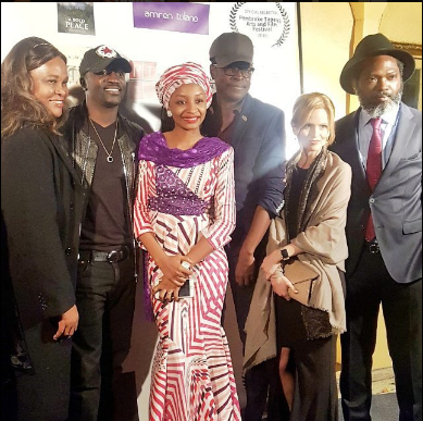 Banned Kannywood Actress, Rahama Sadau Attends Movie Screening With Akon And Others (Photos)