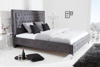 postele Chesterfield, celočalouněné postele